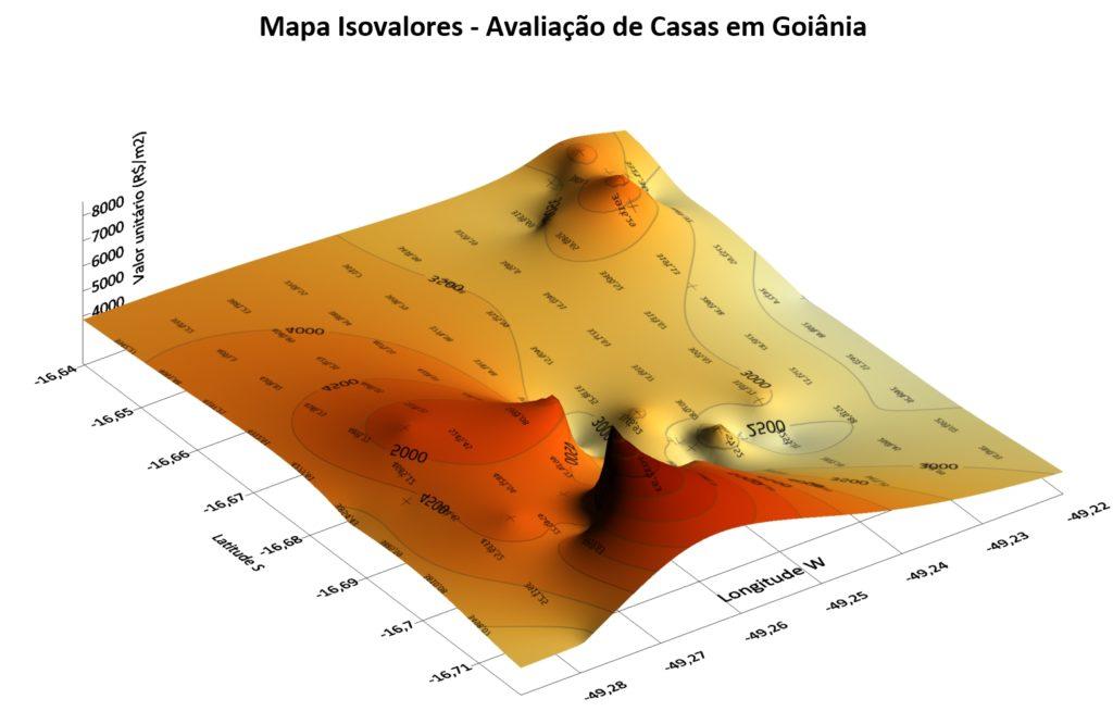 Mapa Isovalores - Avaliação de Casas em Goiânia