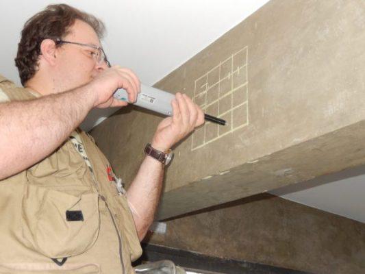 Esclerometria em viga de concreto - Loxxi Engenharia