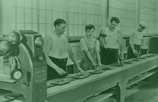 Linha de Produção - Tempos Modernos Chaplin
